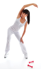 Girl stretching exercise aerobic yoga pilates