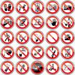 Verbotszeichen Set 1 spiegelung