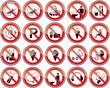 Verbotszeichen Set 2 spiegelung