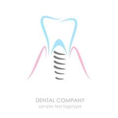Logo Dental implant # Vector