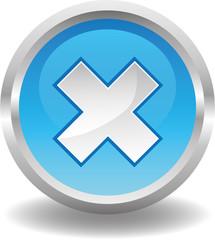 Button rund blau - kreuz mal schließen