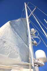 sailboat sails rising