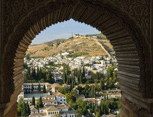 The Albaicin, the Arabic district of Granada, from the Alhambra