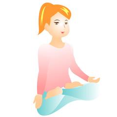 A women meditating