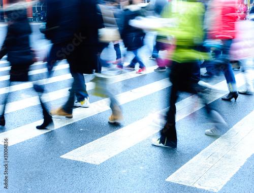 people on zebra crossing