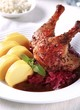 Roast Duck with Red Cabbage and  Potato Dumplings