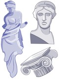 Ancient Greek statues.