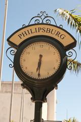 Street Clock in Philipsburg, St. Maarten, Caribbean