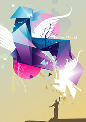 abstract color vector illustration
