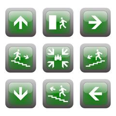 bottoni segnaletica di emergenza