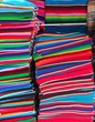 Mexican serape colorful stacked handcrafts