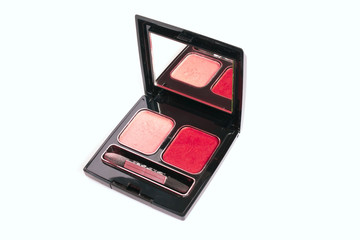 The red and beige eye shadow for women
