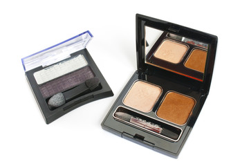 The cosmetics for women - some eye shadows