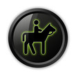 "Black Icon (Green Outlines) ""Horse Trail"""