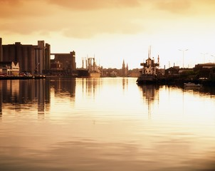 River Lee And Docks, Cork City, Ireland