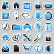 web Blue Stickers