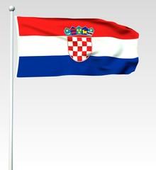 097 - Kroatische Flagge - Render