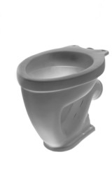 The toilet bowl, isolated on white background