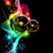 Music Disco Flyer With Raibow Colours