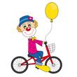 Payaso en bicicleta