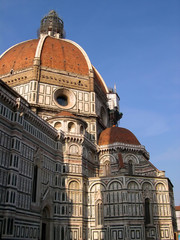Dome of Cathedral or Duomo of Florence in Tuscany in Italy