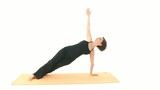 Yoga in sequence: Asana Side Plank, Wild Thing, poster