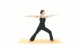 Yoga Asana in sequence: Warrior, Revolved Warrior, Sun Warrior, poster