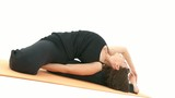 Yoga Asana in sequence: Revolved Head-to-Knee Pose poster