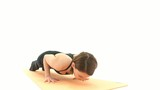 Yoga Asana in sequence: Plank, Four-Limbs Staff Pose poster
