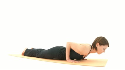 Yoga Asana in sequence: Plank, Four-Limbs Staff Pose