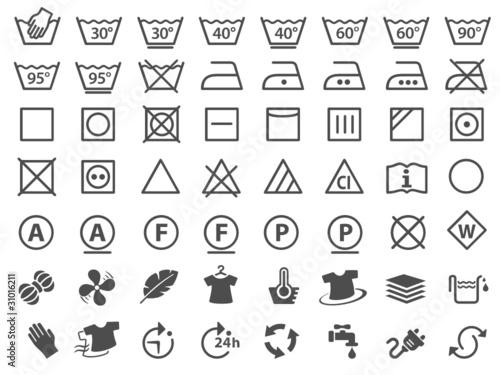 Wäschezeichen & Pflegesymbole - 31016211