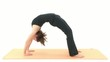 Yoga Asana in sequence: Wheel, Wheel, Pose, Wheel Posture