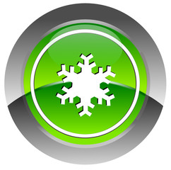 Ice glossy icon