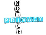 Privacy Notice Crossword poster