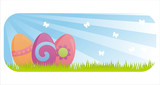 colorful easter banner