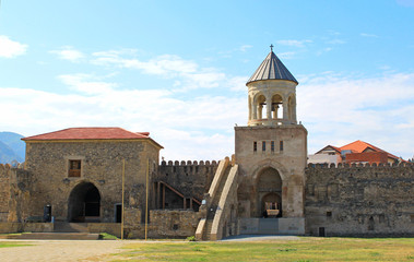 Yard of Svetitskhoveli Cathedral in Mtskheta, Georgia