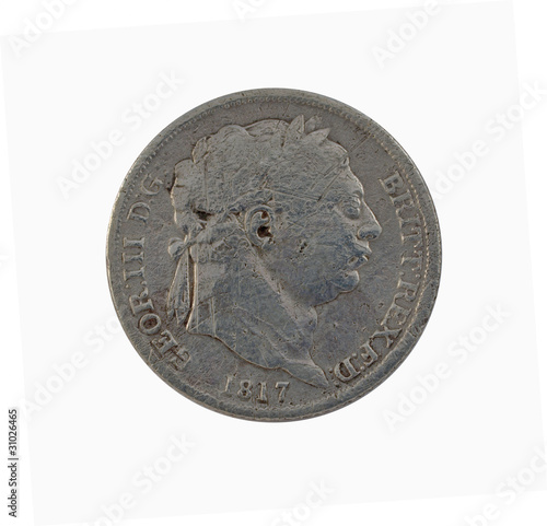 George III Sixpence Coin,1817