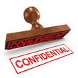 "3d Rubber Stamp - ""Confidential"""