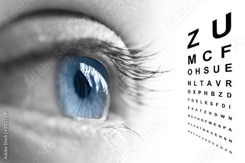 Leinwandbild Motiv Oeil et test de vision