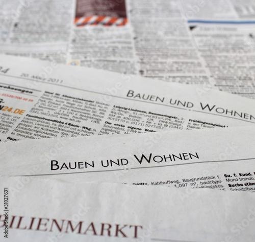 Zeitung Wohnung