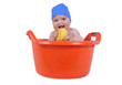 Un baño divertido.