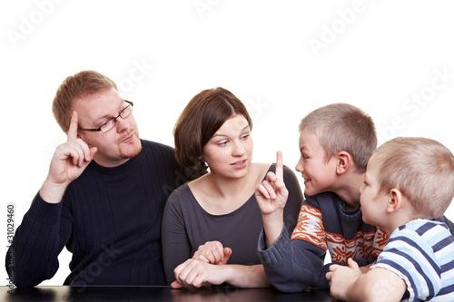 Demokratische Abstimmung in der Familie