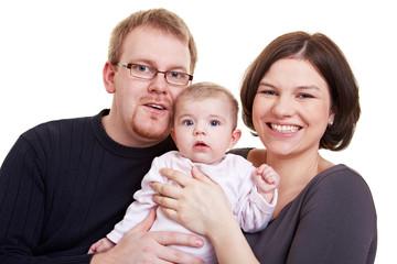 Vater und Mutter mit Baby