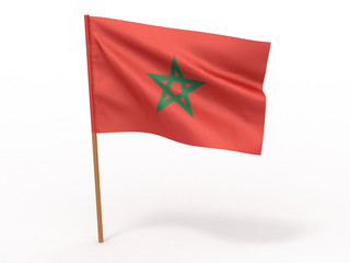 flag fluttering in the wind. Morocco