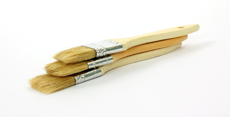 Stacked Group Disposable Paint Brushes