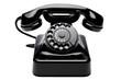 Leinwanddruck Bild - Retro Telefon 3