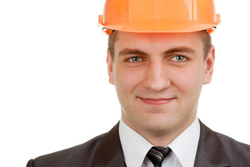 Smiling engineer in hardhat