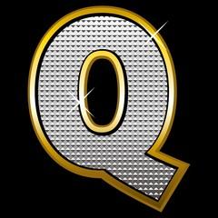 Bling bling font type_letter Q
