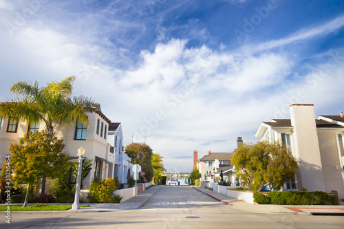 Fotobehang Los Angeles Homes in Affluent Southern California Community