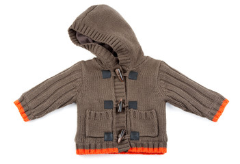 Brown Children's knitted sweater